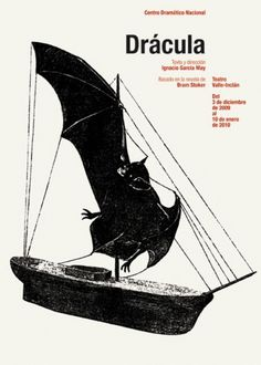 CDN : Isidro Ferrer #ferrer #huesca #spain #theatre #dracula #isidro #illustration #ship #bat #poster