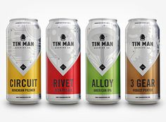 Tin Man Brewing Cans #packaging #beer #cans