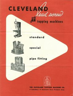 Cleveland Lead Screw Catalog #packaging #vintage