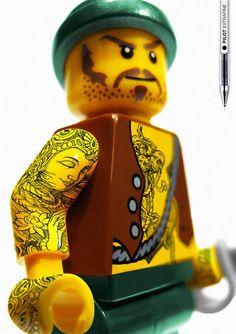 pilot extrafine #advert #tattoo #lego #moustache