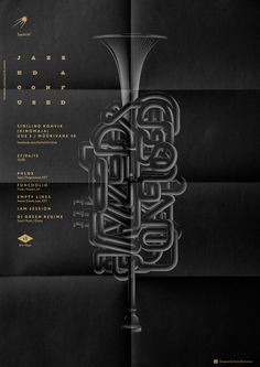 Jazzed & Confused #jazz #design #graphic #poster #music #type