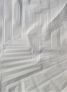 Artist Folds Creases On Paper To Form Architectural 'Drawings' - DesignTAXI.com #paper #art