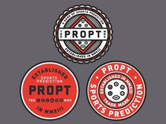 Propt badges #nick #badge #logos #lockup #slater