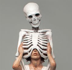 Unusual Sculptures of People and Skeletons Chiseled from Wood by Yoshitoshi KanemakiMarch 13 #wood #skeleton #sculpture