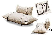 Recyclable, Compact Sofa - IPPINKA The sofa is uniquely made out of 100% recycled paper. By inflating the paper bags you are given a comfortable cushion that can be easily deflated for easy transport and/or storage. Furniture that is compact and practical is in rare supply as materials form a driving a desire in the consumer base. Without sacrificing comfort, this environmentally-concious seat offers more than conventional pieces of furniture.