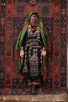 suzani:Avar woman (Caucasus), wedding traditional costume. Ethnic groups living in the Russian republic of Dagestan, village Rugudja, triba #fashion #pattern #culture #style