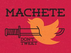 machete don't tweet #vector #machete #icon #illustration #tweet