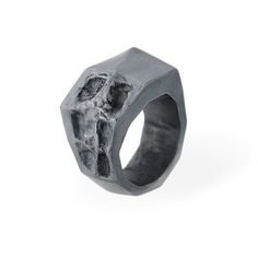 Via Malta Ring oxidised silver | SMITH/GREY #mens #accessories #white #b&w #silver #damaged #black #texture #jewellery #men #jewelry #and #fashion #ring #grey