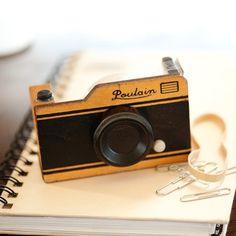 Wooden Camera Tape Dispenser #tech #flow #gadget #gift #ideas #cool