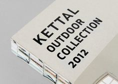 Kettal / Kettal Outdoor Collection 2012 catalogue / Editorial #typography #publication #binding
