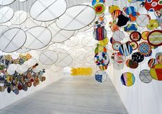 jacob hashimoto: the other sun at ronchini gallery #colors