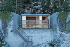 Rocky House Fortress by Kiev-based architect Igor Sirotov #concrete #architecture #house