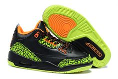 """Kids Nike Air Jordan 3 Shoes: """"Black Cement Neon"""" on sale #shoes"""