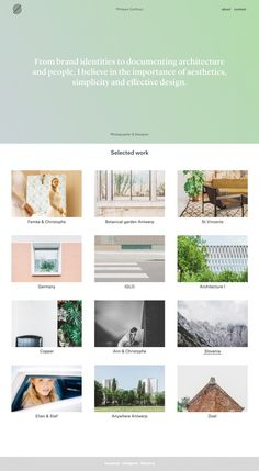 Philippe Corthout designer www.shortwood.be Webdesign website porfolio inspiration beautiful minimal simple aesthetics featured as site of t