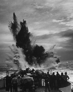 Cold Rockin #wwii #war #explosion #bw