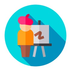 See more icon inspiration related to paint, artist, brush, art and design, professions and jobs, easel, painter, canvas, artistic, education, painting, art, tools and tool on Flaticon.