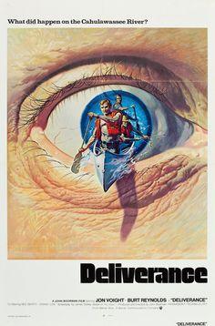1972 Movie Poster Gallery / Deliverance #film #cinema #poster #movie