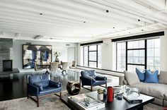 Bold Colors Tastefully Displayed by Laight Street Loft in New York #loft #design #decor #ideas #apartment