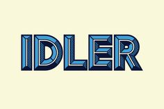 Idler #idler #font #typography