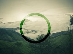 green circle #sky #design #landscape #circle #green