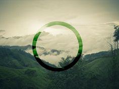 green circle #design #landscape #green #sky #circle