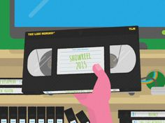 #vhs #illustration #showreel #vhs #retro #bright #flat #colourful