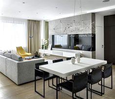 Moscow Apartment by Alexandra Fyodorova - living room, interior design, decor, #livingroom
