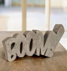 Boom! Concrete Sculpture by HandMadeFont #inspiration #abstract #creative #design #unique #sculptures #cool