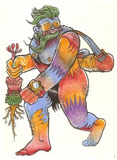 All sizes | psychonautic sasquatch | Flickr - Photo Sharing! #tim #color #illustration #razo #pencil