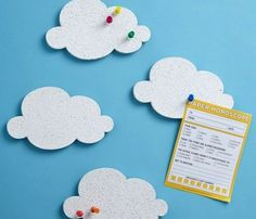 Mini Cloud Cork Boards #boards #cloud