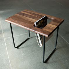 Hip Pocket Table | Ample: Modern Furniture and Lighting #side #modern #table #furniture #rack #magazine