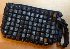 A Recycled Keyboard Clutch Purse #keyboard