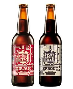 Bierderie Bottles #beer #packaging #bottle #label