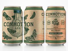 Great Raft Brewing Commotion Cans #packaging #beer #cans