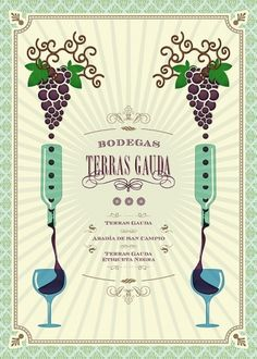 Afiche Terras Gauda on the Behance Network #terras #grapes #gauda #wine