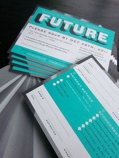 design work life » cataloging inspiration daily #white #turquoise #retro #black #bold #collateral #aqua #grey