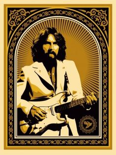OBEY-GIANT-GEORGE-HARRISON-GOLD-500x668.jpg 500×668 pixels #giant #design #illustration #poster #obey