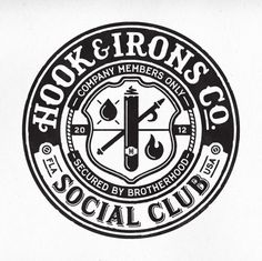 Dribbble - HI_Social_Club.png by Richie Stewart #mark #logo #vintage