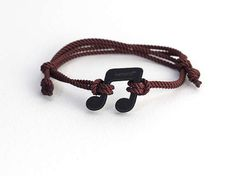 Musical Note Kemono #bracelet / #wristlet - black collection #music #product #design