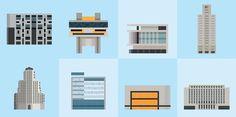 Buenos Aires pixel buildings