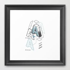 The Exploded Alphabet / A Framed Art Print #letter #type #print #design