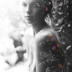 Girl Made of Thorns - Composite by Trent Hernandez #photography #girl #floral #design #composite #portrait