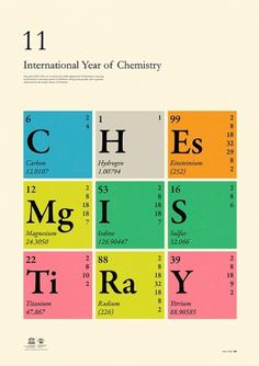International Year of Chemistry 2011 on the Behance Network #illustration #poster