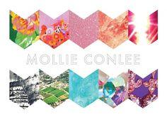 Mollie Conlee #logo #rainbow #chevron #color