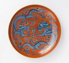 Dish with dragon #porcelain
