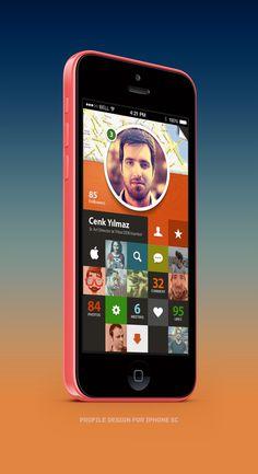 Profile #profile #apple #design #grid #iphone #app #mobile #art