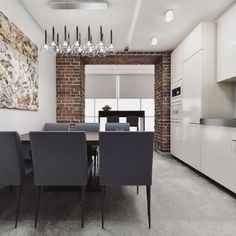 Interior design. Brick wall