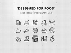 Designed for food - icons