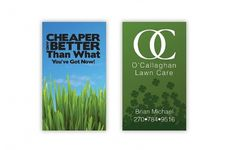 Brian Michael O'Callaghan #lawn #family #business #branding #grass #card #design #layout