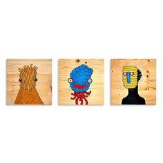 30x30 cm tahta üzerine boyama. Detaylı fotoğrafları yakında. Soldan 1 ve 2 satıldı 3 için iletişime geçebilirsiniz. #wood #illustr